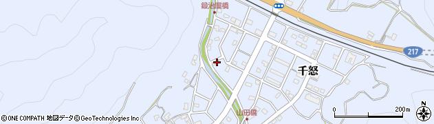 大分県津久見市千怒7200周辺の地図