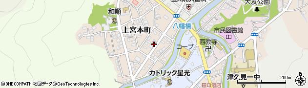 大分県津久見市上宮本町91周辺の地図