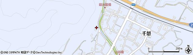 大分県津久見市千怒599周辺の地図