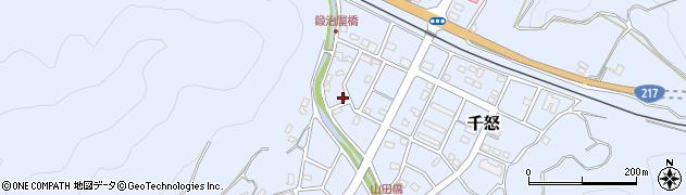 大分県津久見市千怒7111周辺の地図