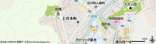 大分県津久見市上宮本町7周辺の地図