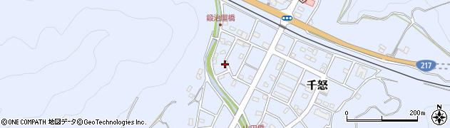 大分県津久見市千怒7114周辺の地図
