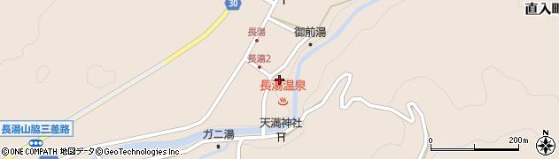 大分県竹田市直入町大字長湯湯原周辺の地図