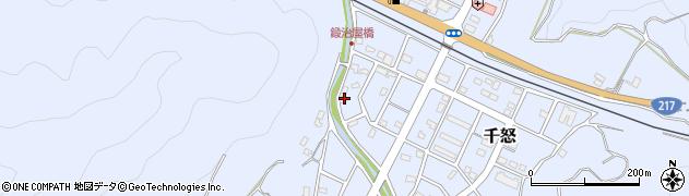 大分県津久見市千怒3373周辺の地図