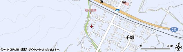 大分県津久見市千怒7117周辺の地図