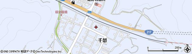 大分県津久見市千怒7438周辺の地図
