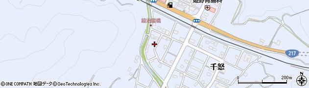 大分県津久見市千怒3388周辺の地図