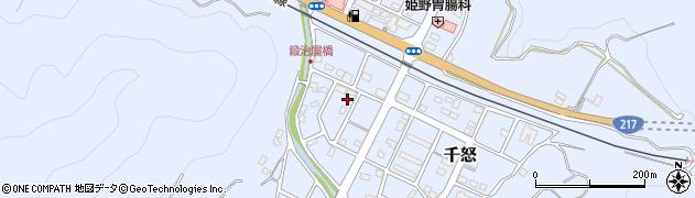 大分県津久見市千怒7171周辺の地図