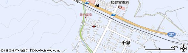 大分県津久見市千怒7175周辺の地図