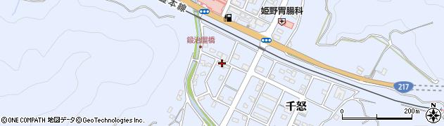 大分県津久見市千怒7174周辺の地図