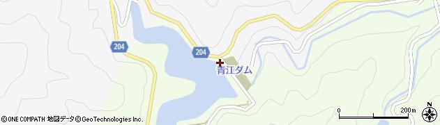 大分県津久見市上青江7036周辺の地図