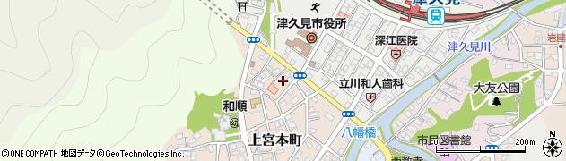 大分県津久見市上宮本町22周辺の地図