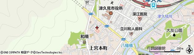 大分県津久見市上宮本町23周辺の地図