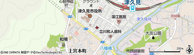 大分県津久見市宮本町周辺の地図