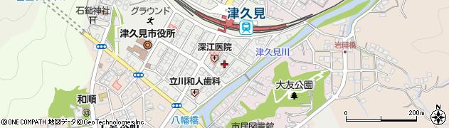 大分県津久見市宮本町7周辺の地図