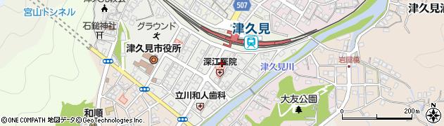大分県津久見市宮本町9周辺の地図