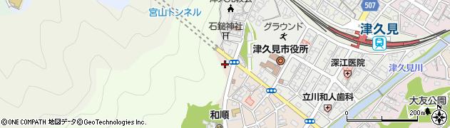 大分県津久見市上宮本町25周辺の地図