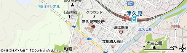大分県津久見市周辺の地図