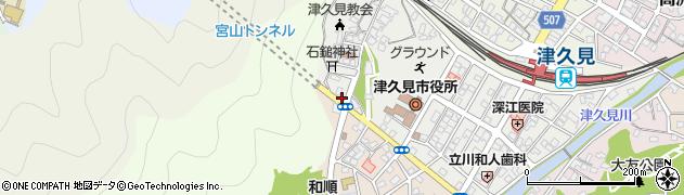大分県津久見市宮本町22周辺の地図