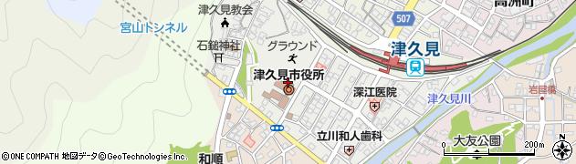 大分県津久見市宮本町20周辺の地図