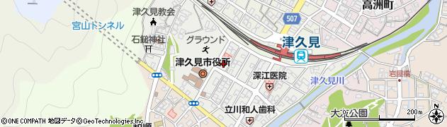 大分県津久見市宮本町19周辺の地図