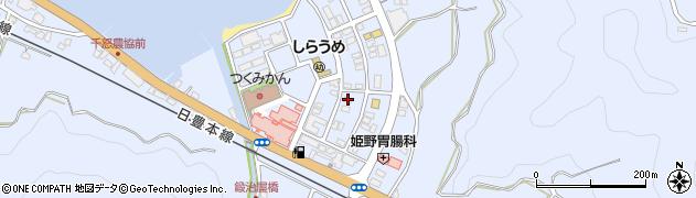大分県津久見市千怒6101周辺の地図