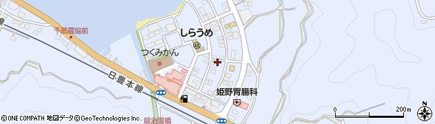 大分県津久見市千怒539周辺の地図