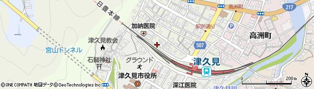 大分県津久見市中央町3周辺の地図