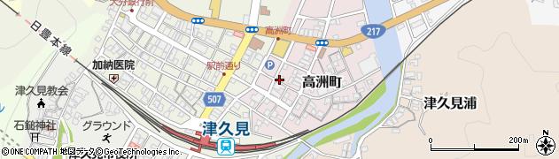 大分県津久見市高洲町12-1周辺の地図