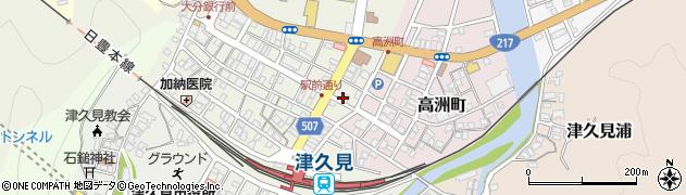 大分県津久見市中央町20周辺の地図