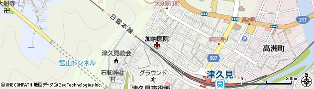 大分県津久見市中央町4周辺の地図