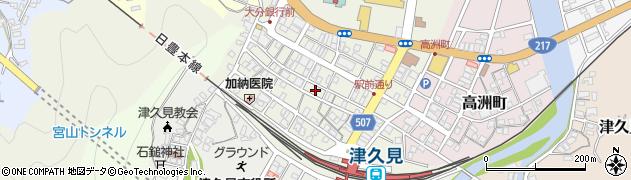 大分県津久見市中央町11周辺の地図