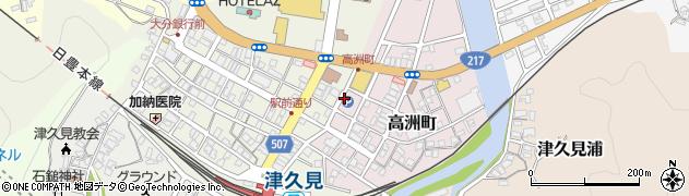 大分県津久見市高洲町11周辺の地図