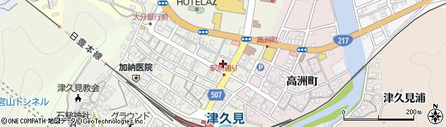 大分県津久見市中央町21周辺の地図