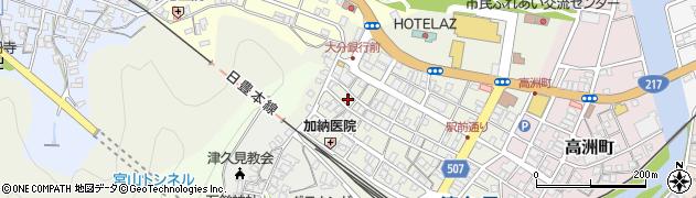 大分県津久見市中央町13周辺の地図