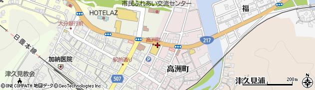 大分県津久見市高洲町20周辺の地図