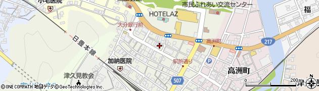 大分県津久見市中央町23周辺の地図