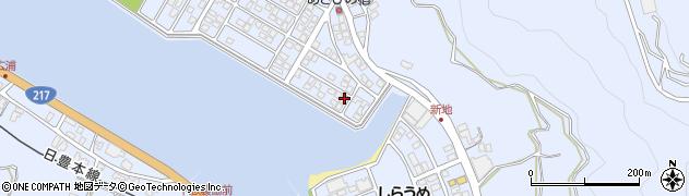 大分県津久見市千怒5114周辺の地図