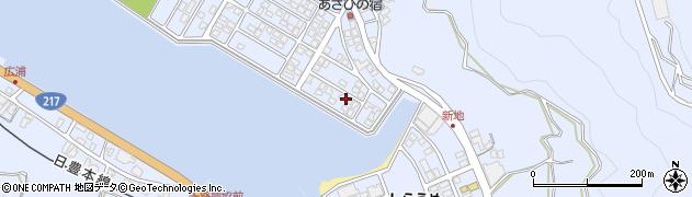 大分県津久見市千怒5117周辺の地図
