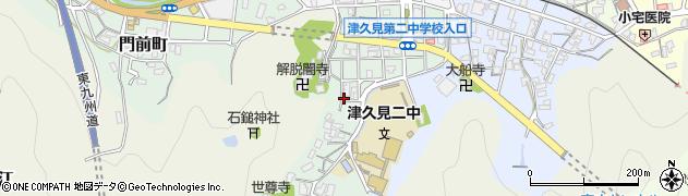 大分県津久見市井無田町13周辺の地図