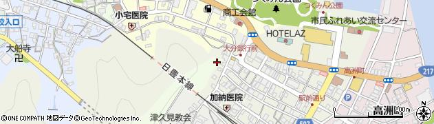 大分県津久見市中央町5周辺の地図