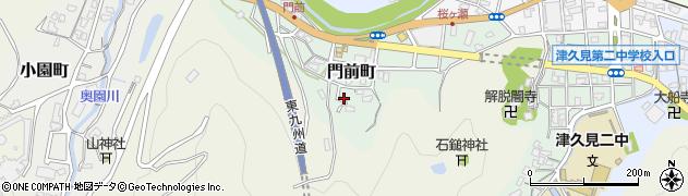 大分県津久見市門前町周辺の地図