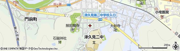 大分県津久見市井無田町9周辺の地図