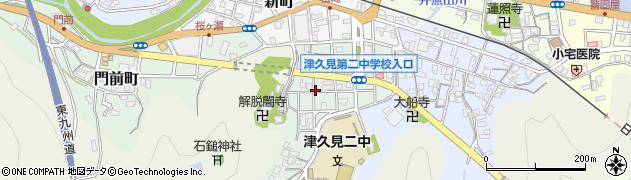 大分県津久見市井無田町10周辺の地図