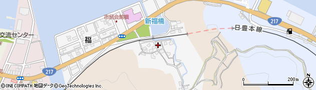 大分県津久見市津久見浦3614周辺の地図