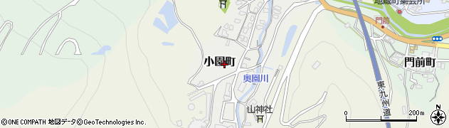 大分県津久見市小園町11周辺の地図