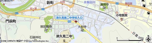 大分県津久見市井無田町2周辺の地図