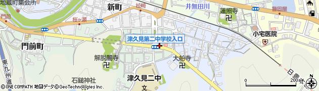 大分県津久見市井無田町4周辺の地図
