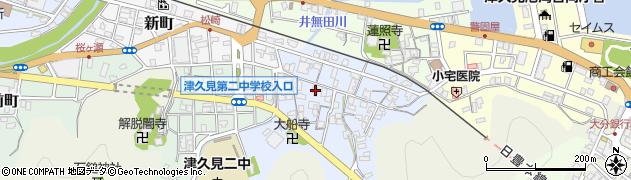 大分県津久見市元町周辺の地図