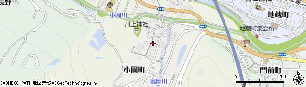 大分県津久見市小園町周辺の地図